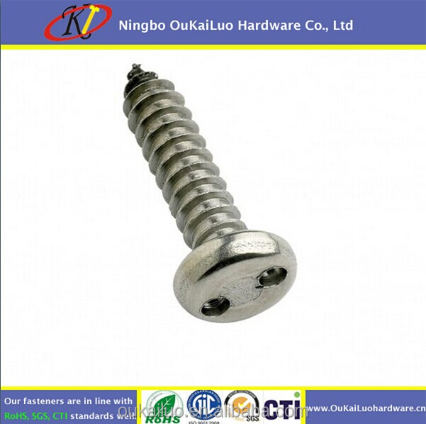 Stainless Steel security screw/sel tapping screw