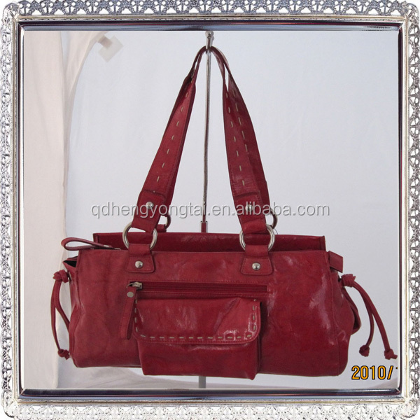 Popular design oft skinned women's genuine leather habdbag ladies handbag