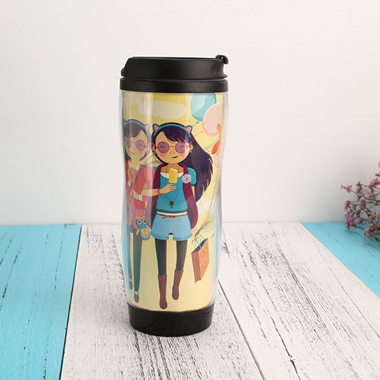 Durable 450ml tumbler color changing double wall thermos custom coffee mug