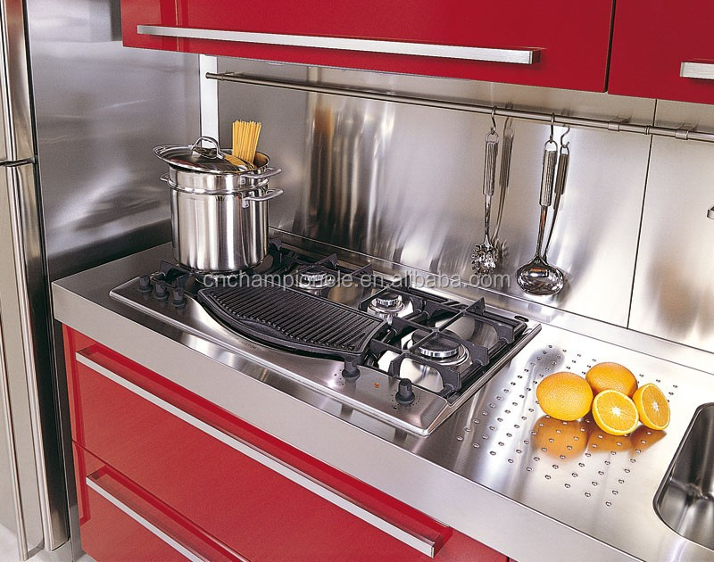 304 red stainless steel sink kitchen cabinet buy