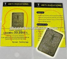 The latest 24K gold mobile phone radiation sticker/Quantum Shield Anti Radiation sticker