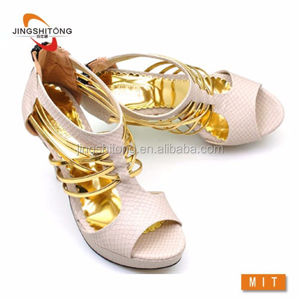 Style roman sandals fish mouth follow sandals high hill shoes