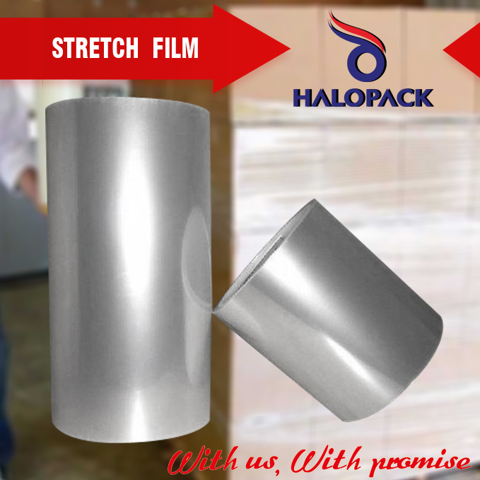 Custom Stretch Film Jumbo Roll For Pallet Used