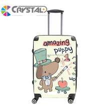 Stock school kids trolley luggage bag travel suitase abs pc trolley luggage aluminum frame case luggage with great price