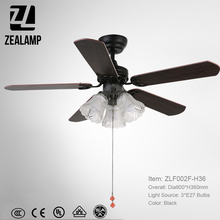 Living rooms decorative ceiling fan with lights ZLF002F-H36