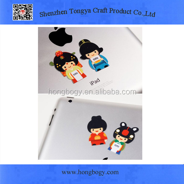 Customized shape sticker mobile screen cleaner