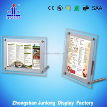 10mm thick open/close battery power led signs in advertising light box