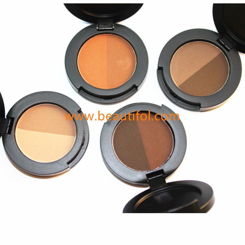 Create your own brand eyebrow powder palette, waterproof eyebrow powder, 2 color eyebrow powder private label
