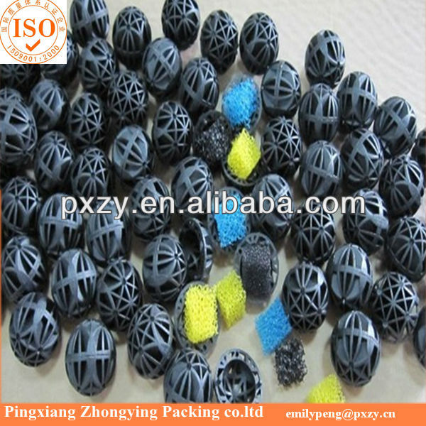 Black Color Aquarium Bio balls, Plastic bio media for Bacteria