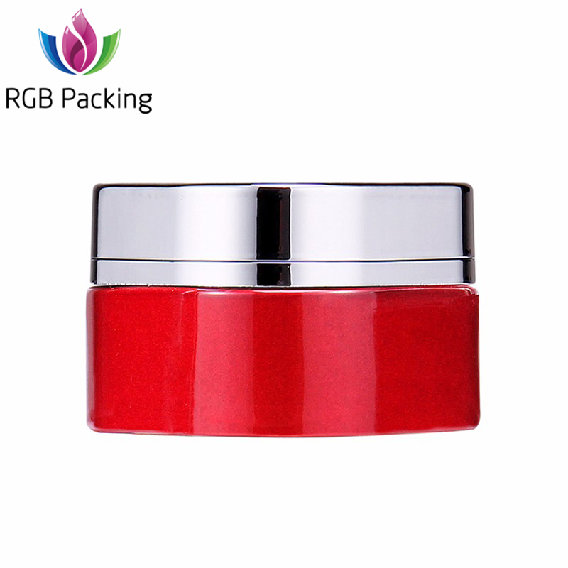 China Factory Wholesale round shape Aluminium Glass Cosmetic Jars For Skin Care