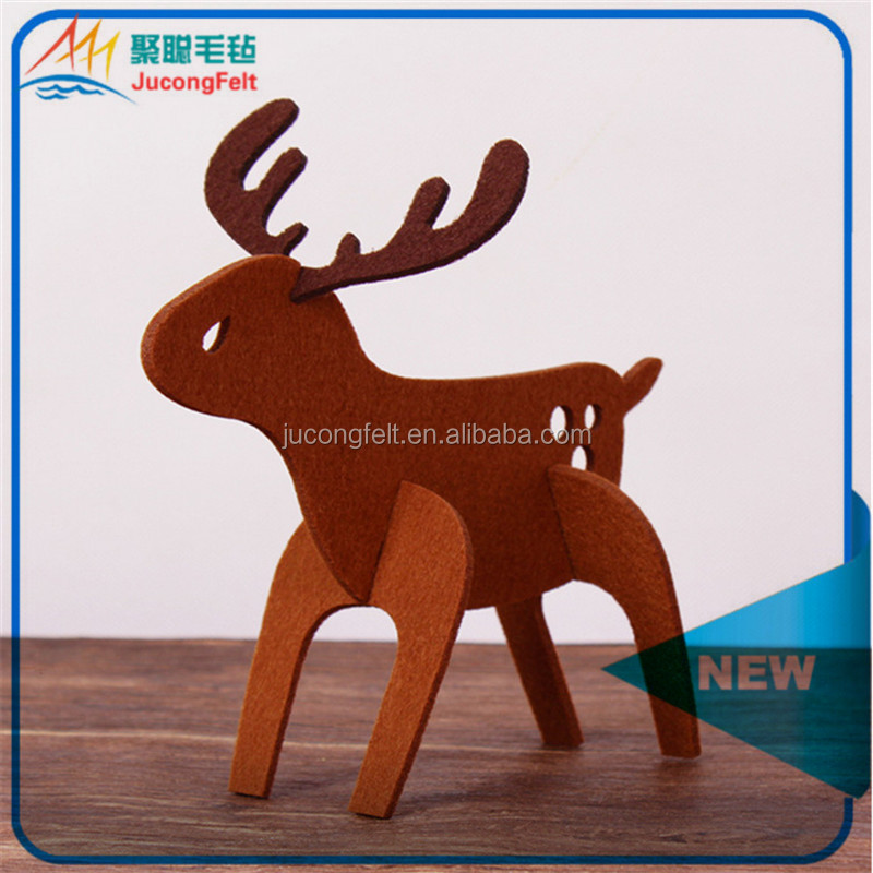 Factory directly sell DIY felt gift Fabric Christmas Tree ornament Indoor Decoration by laser cutting machine