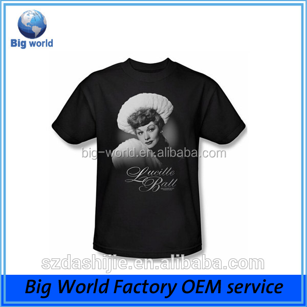 factory custom screen print 100 cotton t shirt