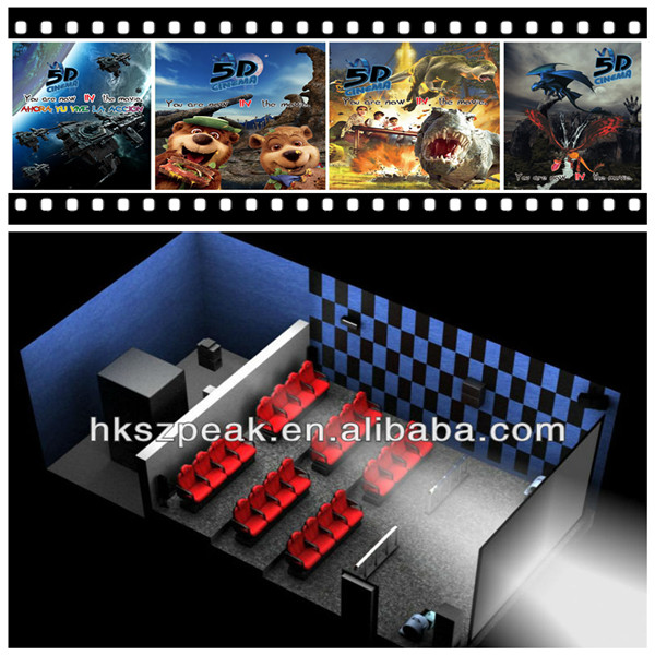 Amusement equipment 5D theatre 6D movie XD ride