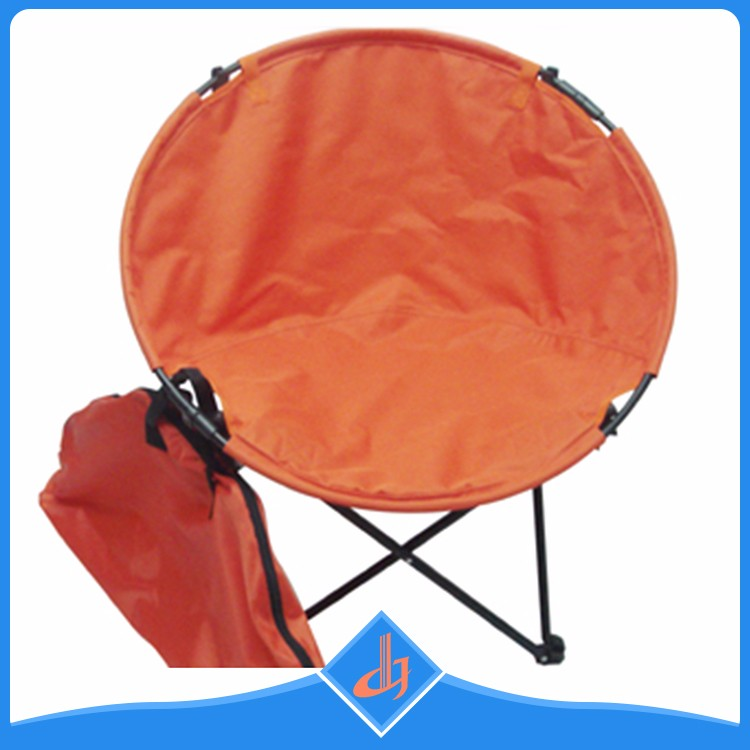 Custom comfortable outdoor light weight orange moon camp chair