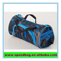 Blue mini sports bag zipper pouch for pen holder students small bag