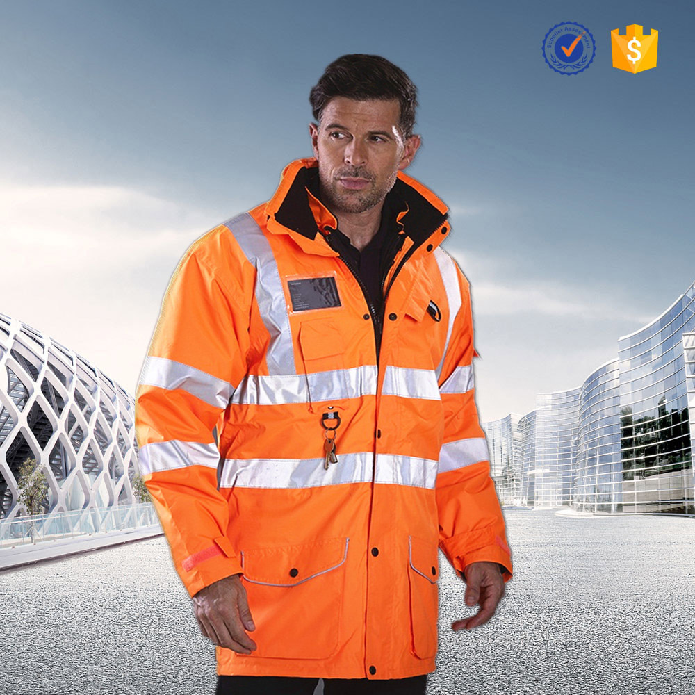 OEM hot sale windproof reflective safety jacket workwear