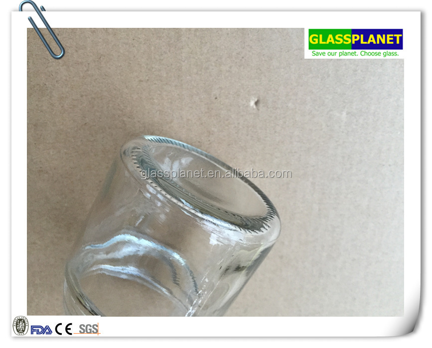 100ml clear frosted cosmetic cream glass jar