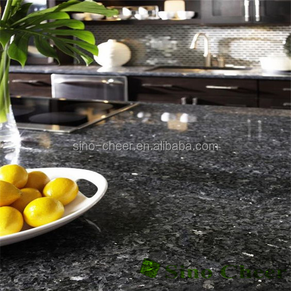 Precut dark blue speckled granite kitchen countertop