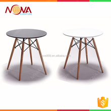2017 modern high quality round Wooden led round dining tables