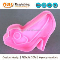 wholesale custom beauty lady high heel shoe plastic cookie cutter