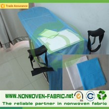 SMS/PP disposable Non-woven Fabric / Cloth for Nonwoven Bed Sheet Medical bed