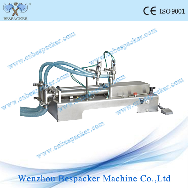 Y2WTD double head filling machine filling bottled coconut water