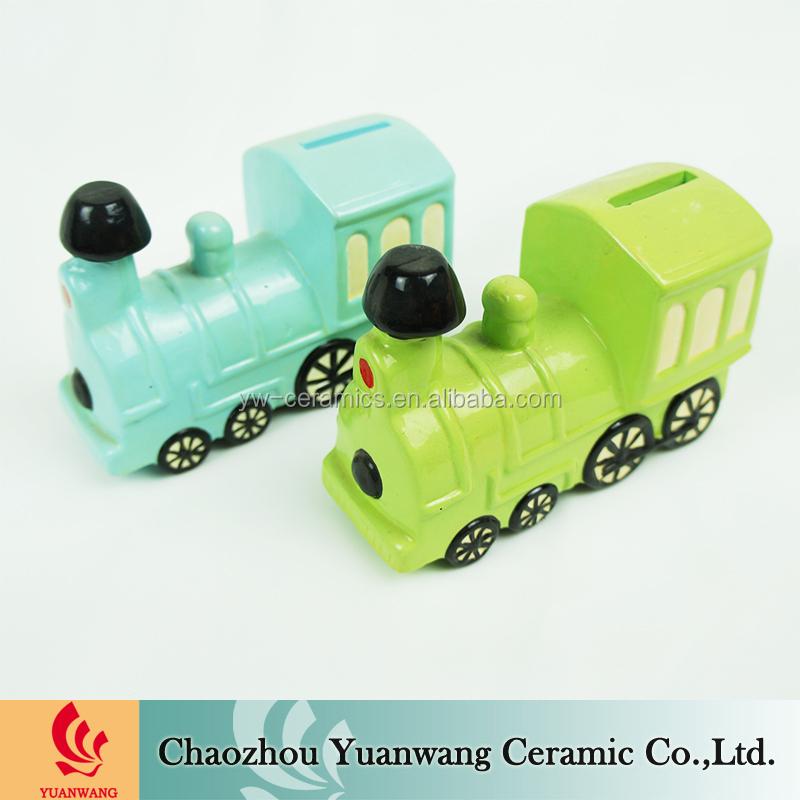 Wholesaler ceramic cheap custom train piggy bank view train piggy bank yuanwang product - Train piggy banks ...
