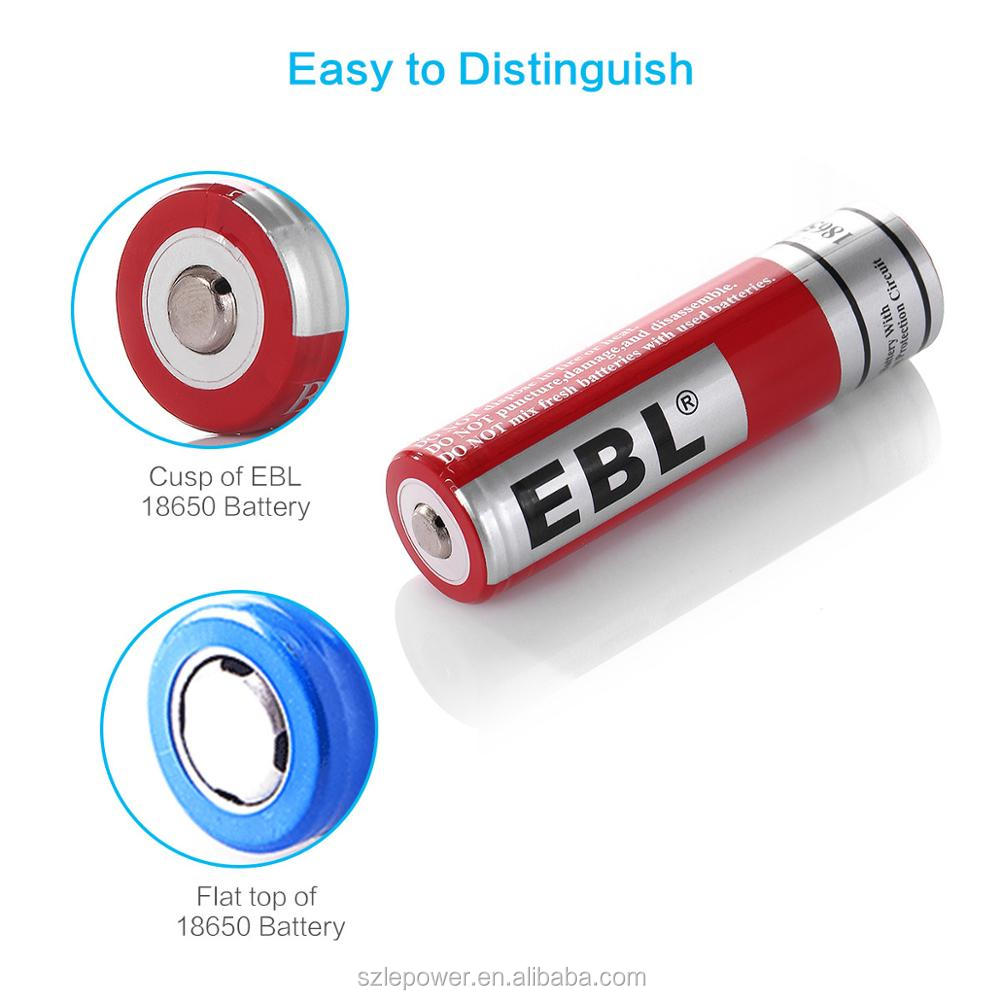 EBL 18650 Rechargeable Lithium Ion Battery 3000mAh Rechargeable Battery for Toys