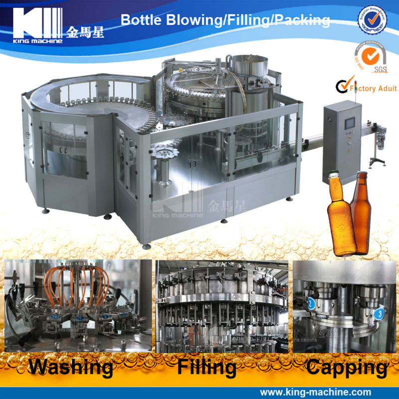 Economy Linear Type Beer Bottling Equipment /Filling Machine