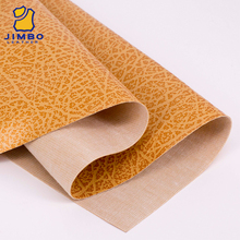 Guangdong Supplier Factory Price White Polyester Printed Embossing PU Faux Leather Fabric For Furniture