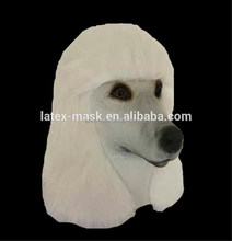 Funny Full Head Rubber Realitic Animal Costumes Akita Latex Dog Head Mask For Accourement Party Cosplay