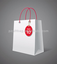 Customized plain white paper tote bag canada from China supplier
