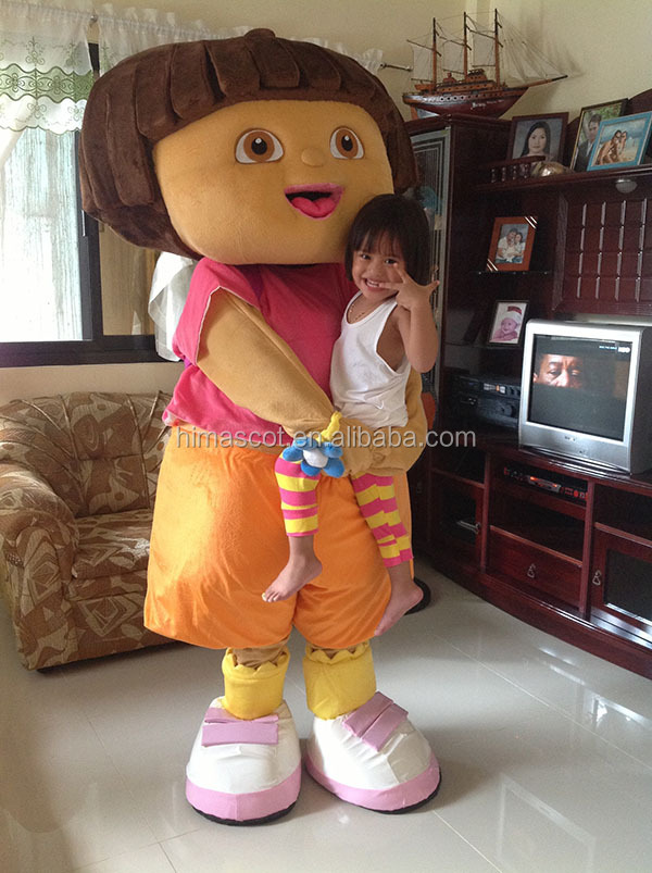 HI CE standard movie cartoon dora mascot costumes for adult