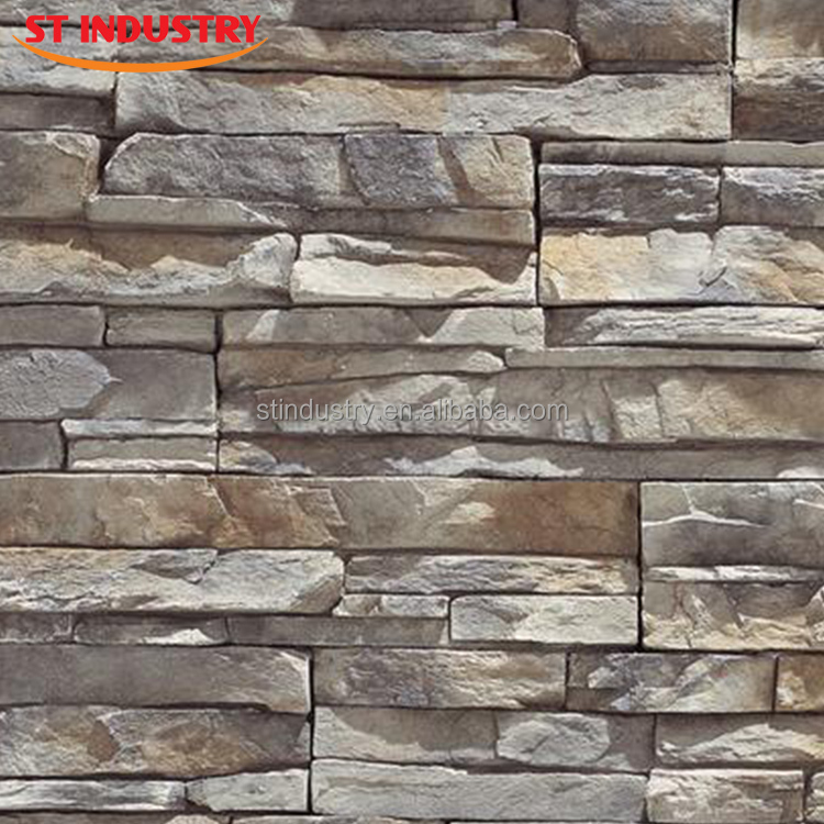 Cheap decor exterior wall cladding artificial stone