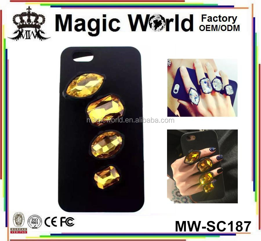 Creative Novative Diamond Crystal Ring Silicone TPU Phone Case For Handset