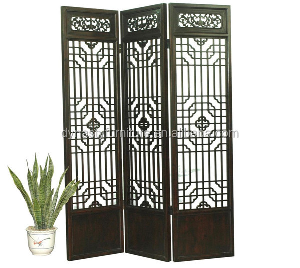 chinese furniture wooden folding screen room divider