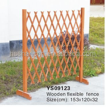 outdoor wooden fence adjustable/wooden flexible fence