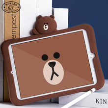 Soft Silicone Brown Bears Tablet Covers for Ipad mini case