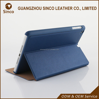 China supplier ultra thin flip leather case for iPad mini 4