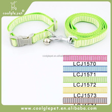 New Dog Product Supplier Comfort Material Simple Stripes China Pet Collar Leash