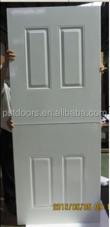 Nice design cheap steel wood edge 6 panel door design for sale
