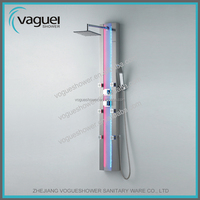 Sanitary ware stainless steel LED massage shower panel S9711 sanitary ware