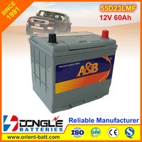 A&B High quality Power Supply as panasonic car battery 55d23l-mf