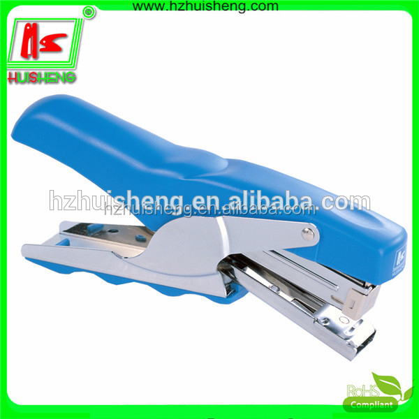 red hand hold plastic stapler Gun, china stationery world HS850-30