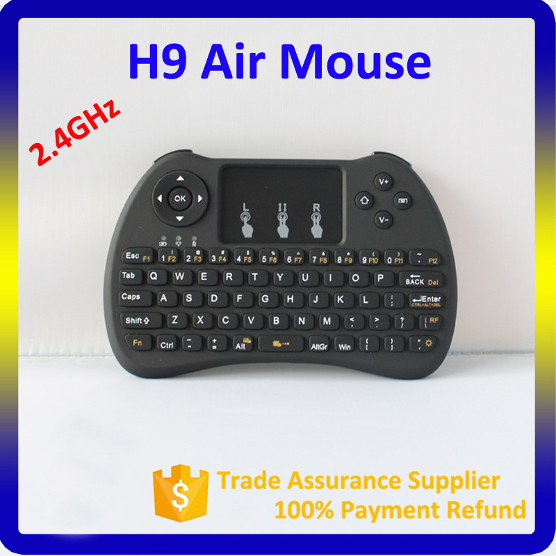 2016 H9 Wireless Game Handle Touchpad 2.4G USB Wireless Keyboard And Mouse