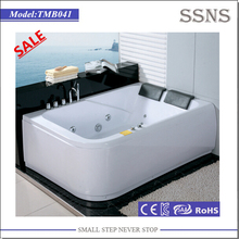 Hot sale 2 person indoor whirlpool portable plastic tub adult