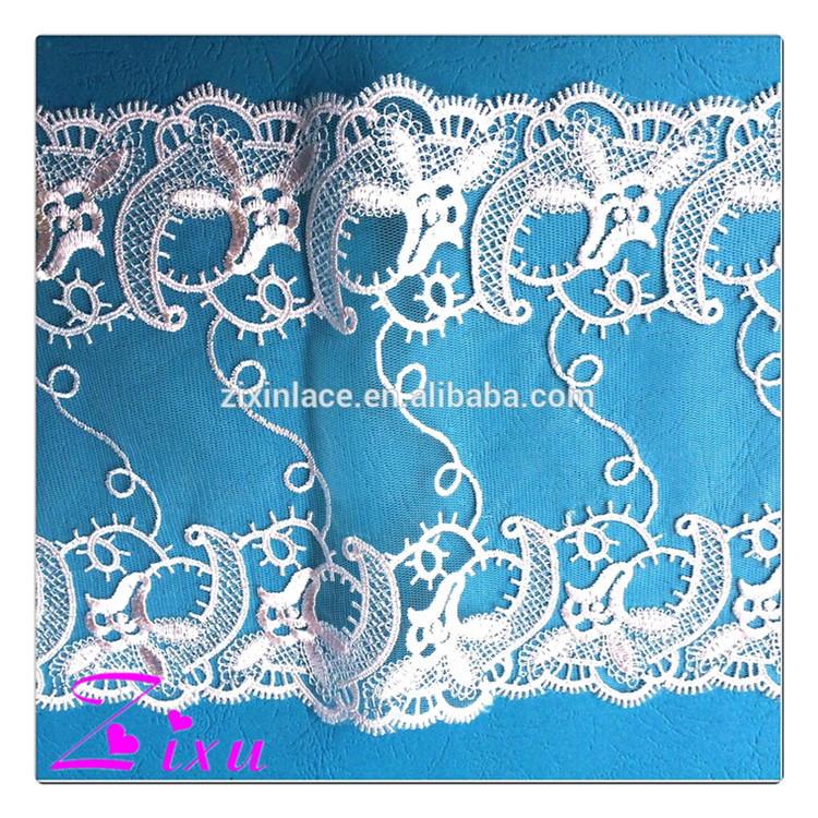 2016 embroidery designs african lace / High quality guipure lace / chemical lace fabric