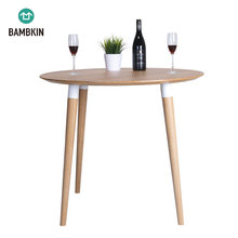 BAMBKIN bamboo furniture round kitchen modern dining table dining room table 100% natural bamboo
