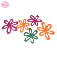 Alibaba China promotional flower shape felt pan protector, pan mat