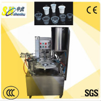 Brand new rotary herbal tea water cup filling sealing machine made in Shanghai